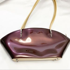Beijo Chocolate Brown Leather purse with Tan Strap